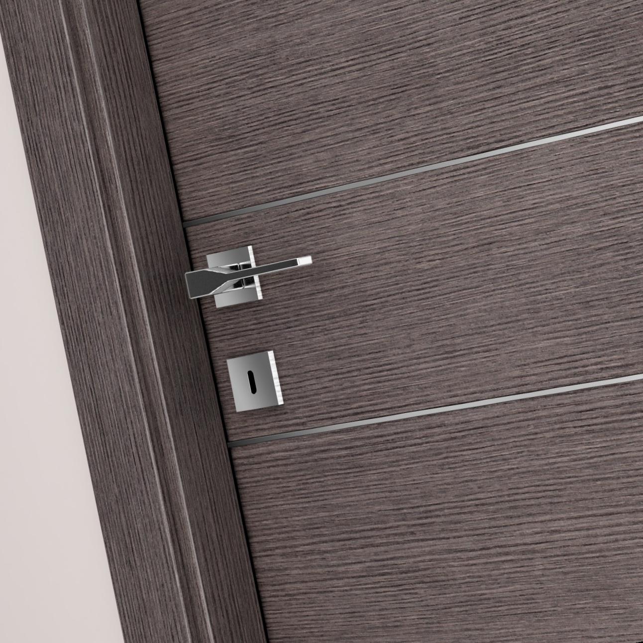 Porte Con Inserti In Alluminio : Porta xilo inserti alluminio laminato spazzolato