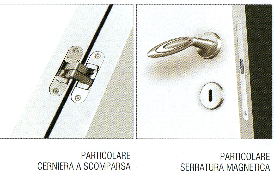 Porte per interni VERO LACCATO con CERNIERE A SCOMPARSA e SERRATURA MAGNETICA  eBay
