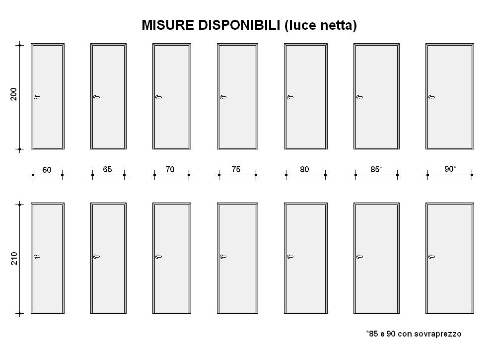 Dimensioni standard porte interne confortevole soggiorno nella casa - Dimensioni porte a scrigno ...